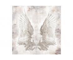 Lienzo serigrafiado alas blancas