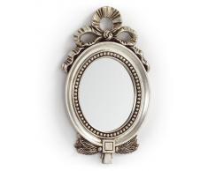 Espejo vintage plata ovalado