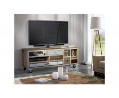 Mueble tv con ruedas industrial Gire