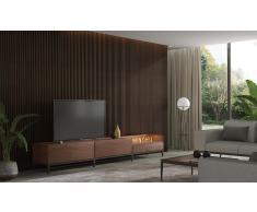 Mueble de tv Etna con chimenea electrica by Castelo