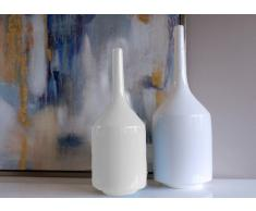 Set 2 jarrones botellas blancas
