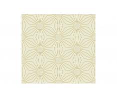 Rollo de papel pintado flor geométrica