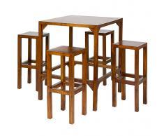Mesa alta con 4 taburetes Rinca