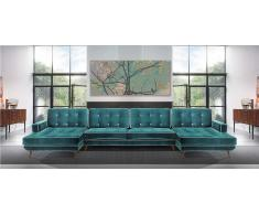 Sofa con doble chaise longue retro Sterling Cooper