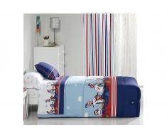 Edredon ajustable estampado piratas para cama de 90 o 105