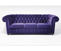 Sofa 3 plazas chester morado Vintage Oxford