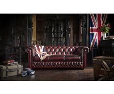 Sofá piel antique chesterfield original
