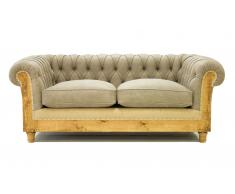 Sofá 2 plazas beige chesterfield Chesire