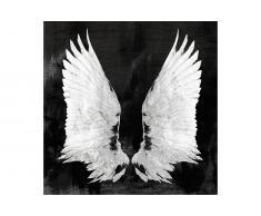 Lienzo serigrafiado alas negras