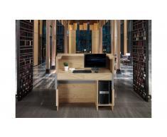 Mesa de escritorio mostrador roble y gris Leggo