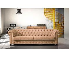 Sofa chester 4 plazas simil piel antic