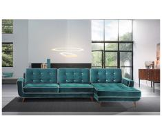 Sofá con chaise longue retro Sterling Cooper