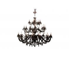 Lámpara de techo colgante Gioiello Crystal Feudal negro