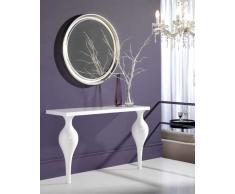 Consola y Espejo Lacado Blanco