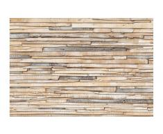 Fotomural madera encalada