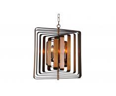 Lámpara de techo cuadrada bronce Luxury