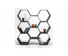 Estantería metálica panel de abeja Black