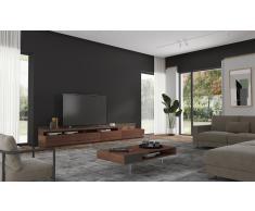 Mueble tv con chimenea electrica Palermo by Bodonni