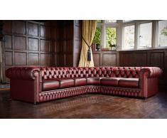 Sofa Chesterfield rinconera original en piel