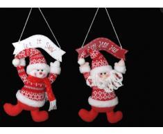 Item International Decoracion Navidad Tela Madera Colgar 2 Modelos