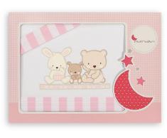 Interbaby Triptico Cuna Modelo Love Rosa Blanco/rosa