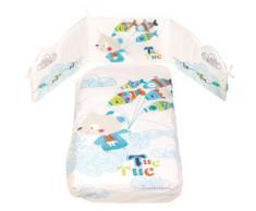 Tuc Tuc Edredon Desenfundable Y Protector Cuna 120X60 Nina Kimono