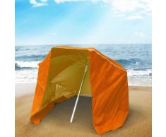 Sombrilla de playa portatil aluminio ligero antiviento 200 cm PIUMA