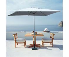 Parasol jardín 3x2 aluminio rectangular mástil central bar hotel EDEN