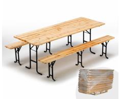 Conjuntos mesas y bancos de madera fiesta de la cerveza 220x80 cm ...