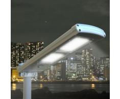 Farola solar lampara LED para calle luz jardin externo 48 super LED...