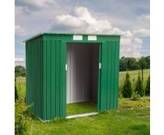 Caseta jardin chapa acero galvanizado làmina verde exterior box MEDIUM