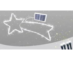 Estrella cometa 50 LED energía solar externo árbol Navidad batería...