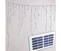Cortina luces de Navidad solares LED efecto nieve jardin exterior