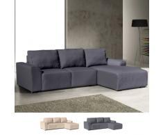 Sofá de la esquina con chaise longue de 3 plazas de tela con apoyab...