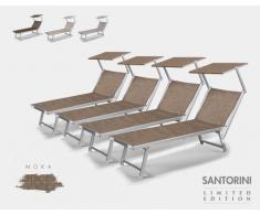 20 Tumbonas de playa aluminio parasol piscina SANTORINI Limited