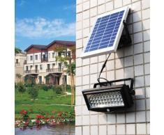Lampara solar aplique de pared LED detector presencia jardin extern...