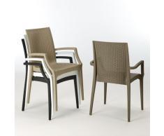 20 sillas reposabrazos Sillones Polyrattan BISTROT ARM Grand Soleil