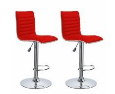 Las heces par diseño ergonómico robusto rojo para la barra cómoda c...