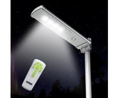 Farola solar lampara LED Control remoto inteligente Optimus