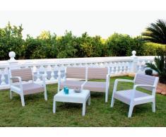 Conjunto de jardín resina bar mesa cojines 4 plazas respaldo alto M...