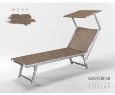 Tumbona de playa aluminio parasol piscina SANTORINI Limited Edition