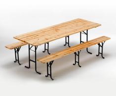 Conjunto mesa y bancos de madera fiesta de la cerveza exterior 3 pi...