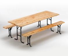 Conjunto mesa y bancos de madera fiesta de la cerveza exterior 220x...