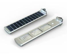 Lámpara de calle LED 3000 lúmenes con jardín panel solar integrado ...