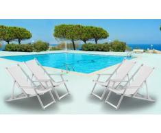 Sillas de playa plegables aluminio portatiles apoyabrazos piscina R...