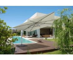 Parasol excentrico sombrilla de jardin 4x4 aluminio cuadrado GIOVE