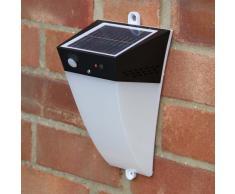 Aplique de pared solar LED detector presencia lampara jardin extern...