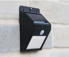 Aplique de pared solar LED lampara jardin luz mural externo ERIS