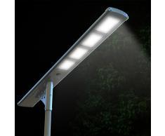 Farola solar lampara LED para calle luz externo 4000 Lumen