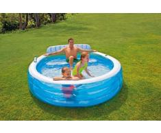 Intex 57190 piscina hinchable sofá integrado 224x216x76